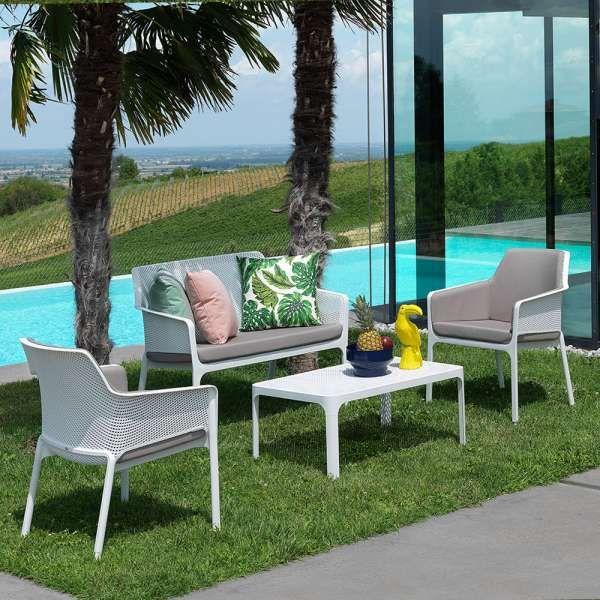 Table Basse De Jardin Moderne Avec Plateau Micro Perfore 100 X 60 Cm Net Canape Jardin Table Basse Jardin Chaise Exterieur