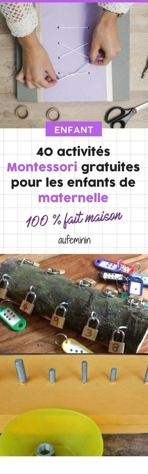 40 free Montessori activities for kindergarten children. # activities # …