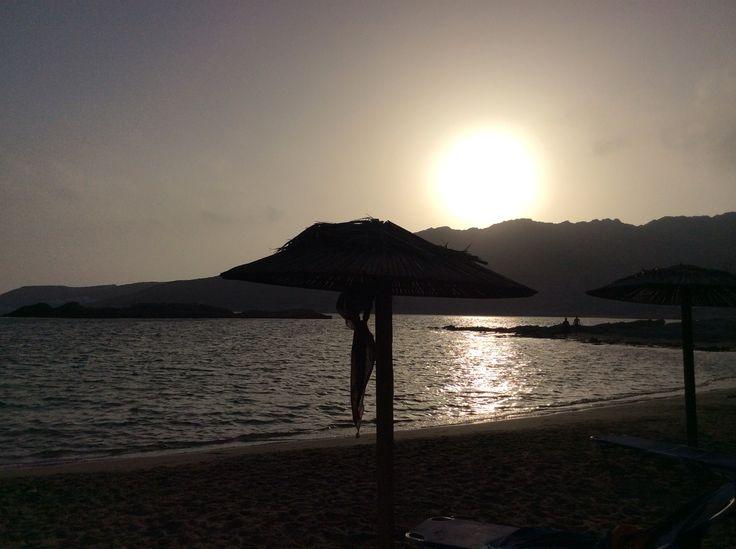 Sunset in Manganari Beach, Ios Greece
