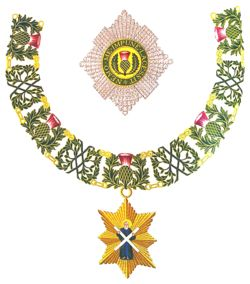Insignia of a Knight Companion of The Most Ancient and Most Noble Order of the Thistle