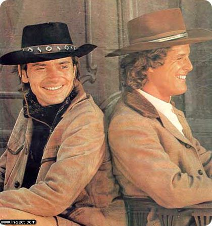 "Alias Smith and Jones is an American Western series that originally aired on ABC from 1971 to 1973. It stars Pete Duel as Hannibal Heyes and Ben Murphy as Jedediah ""Kid"" Curry, a pair of Western cousin outlaws trying to reform. The deal: a promise of conditional amnesty, by a governor who wants to keep the pact under wraps. The condition: for now, they'll still be ""wanted"".  Loved this show!  <3"