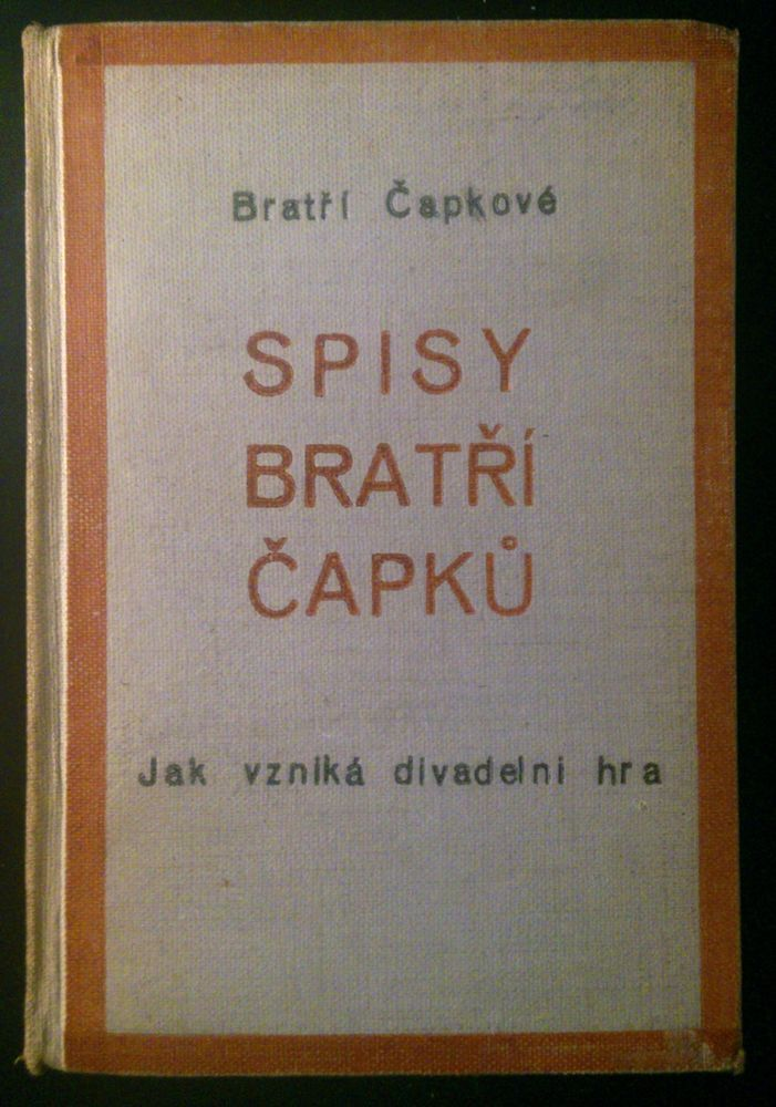 Czech avant-garde Karel a Josef #CAPEK 1925 SPISY BRATRI CAPKU