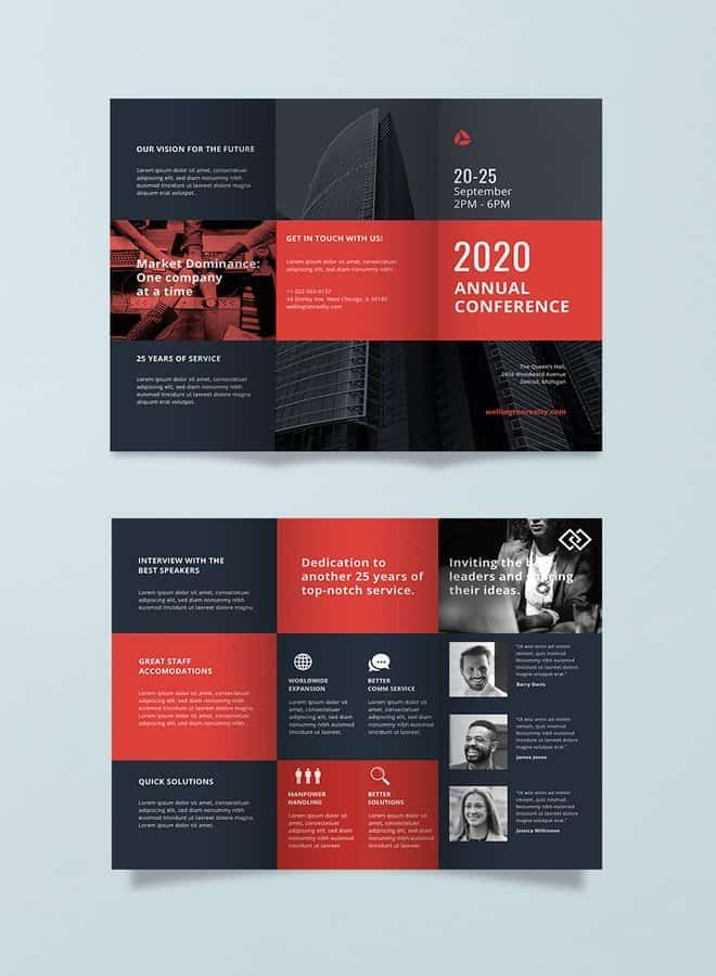 Conference Brochure Template Design Brochure template、Business