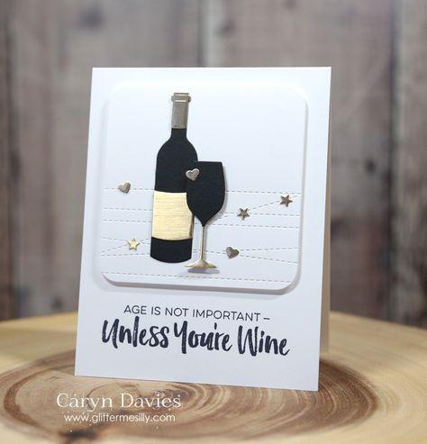 card wine bottle glass glasses MFT Die-namics, MFT Uncorked Stamp Set, MFT Wine Service Die-namics #mftstamps Wine card