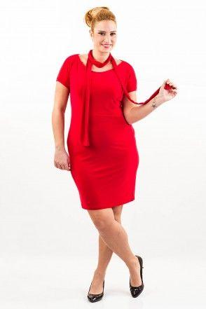kırmızı büyük beden elbise   http://www.dolabimiseviyorum.com/sevgililer-gunu/mda1135-kirmizi