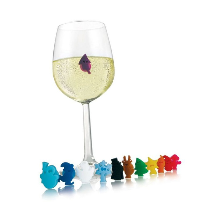 Vacu Vin - znaczki do szklanek - gwiazdkowe ludki