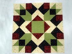 "This Crown of Thorns quilt block pattern makes easy, quick pieced quilt blocks that are filled with colorful patchwork. Blocks finish at 12""x12""."