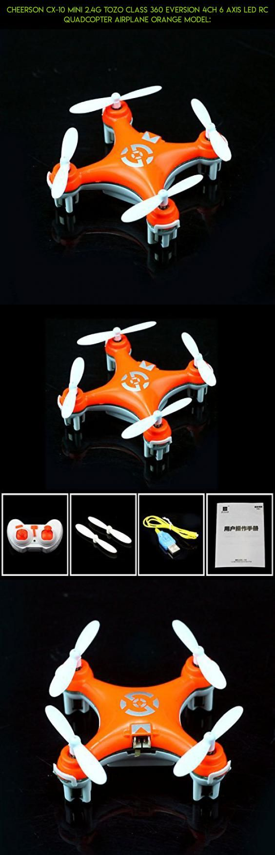 Cheerson Cx-10 Mini 2.4g TOZO Class 360 Eversion 4ch 6 Axis LED Rc Quadcopter Airplane Orange Model: #gadgets #technology #axis #camera #kit #products #racing #parts #tech #shopping #fpv #drone #cheerson #6 #plans