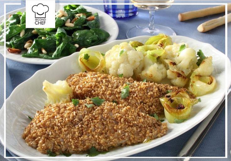 Ecco uno dei piatti più prelibati della settimana: filetto di scorfano al sesamo con spinaci al burro. Non è possibile resistergli! Guarda la #ricetta su http://rebrand.ly/filettodiscorfano  #Second_Chef #incucinaconsecondchef #lericettedisecondchef #ricette #eat #food #cucina
