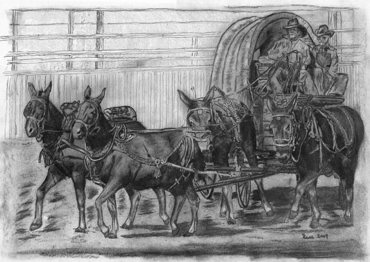 Black White An D Tractor Pulling Wagon : Best black and white sketches images on pinterest