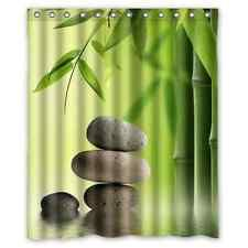 Brand New Bamboo Waterproof Bathroom Shower Curtain 60 x 72 Inch