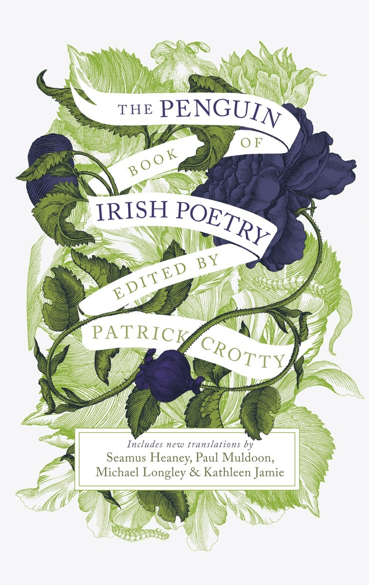 Poetry Book Covers Ideas ~ The penguin book of irish poetry with cover design by