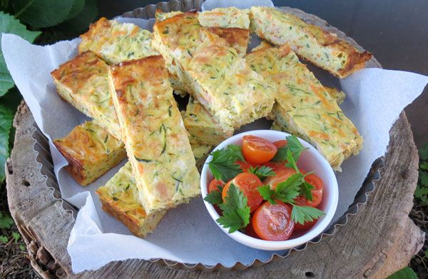Zucchini Slice - Great way to get the kids to eat their vegetables. Can be frozen, you just need to reheat in the oven. Perfect for the kids lunch boxes.