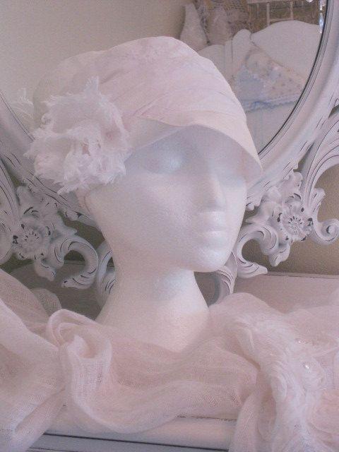 SALE on Ladies Hat in Cotton patchwork Eyelet by BrambleWoodANDivy