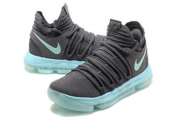 e3ee3b0f92 New Nike KD 10 X Igloo Cool Grey Vert Glow Clear Jade Kevin Durant X  Chaussures