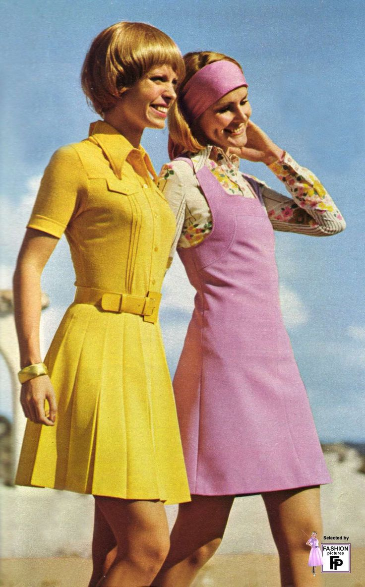 Dress in 1970s clothes style
