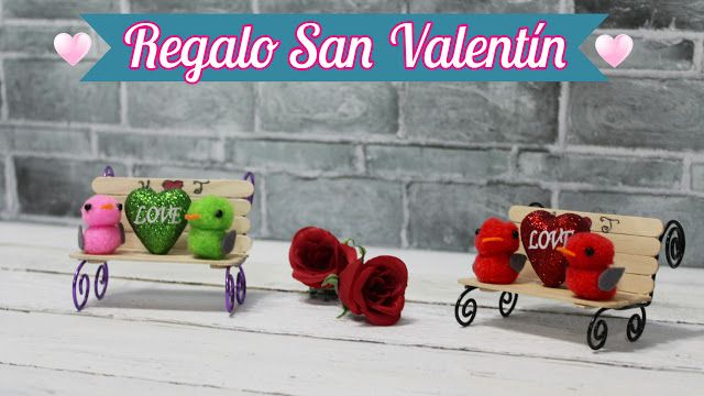 manualidades herme: Regalo San ValentÍn, banco con palitos de madera