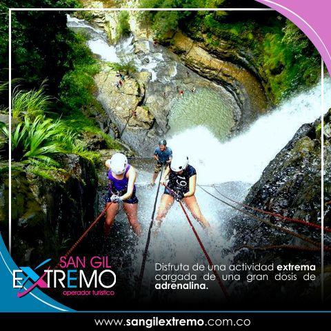 Disfruta de una actividad extrema cargada de una gran dosis de #Adrenalina. Entérate como realizar esta actividad en http://goo.gl/R2hBCq Contáctanos en: Calle 7 # 10 - 26 Piso 3 Frente al Malecón San Gil Santander. Cel. 304 572 52 20 info@sangilextremo.com.co