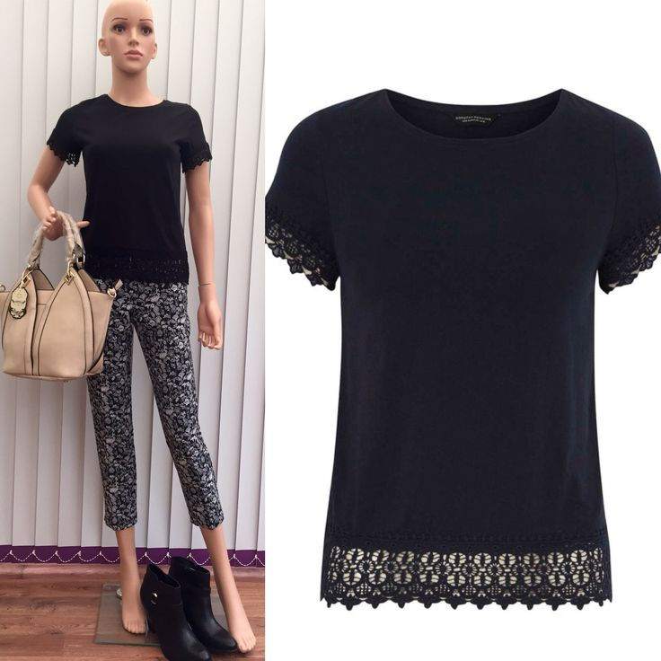 Dorothy Perkins Black Lace Hem Top - £9.95 Perfect for everyday wear!!