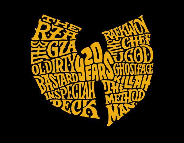 Wu-Tang Clan 20th Anniversary by 86era, via Behance