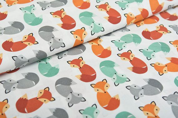 We like this fabric! A LOT.  * Fabric: 100 % cotton . * Color: colorful foxes * Width: 59 Inches(Approx) = 150 cm * Price for 0,5 meter/yard (50cm x 150cm) (19,5 Inches x 59