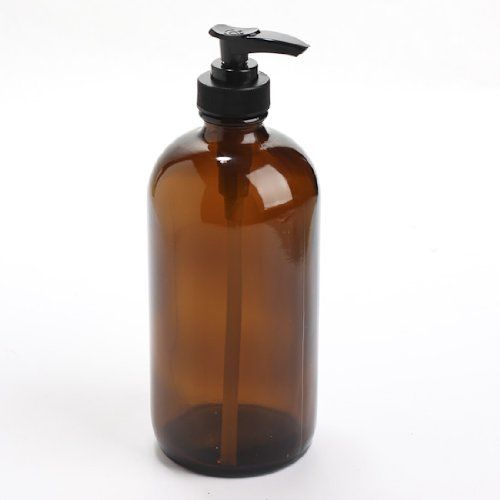 Thick-plated Dark Amber Glass Round Bottle with Black Soap Dispenser Pump Unknown $9.99 http://www.amazon.com/dp/B00EYH6AKY/ref=cm_sw_r_pi_dp_uk1Mtb1MVR63BVSR