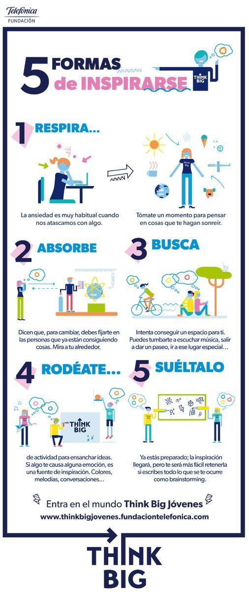 5 formas de inspirarse #infografia #infographic