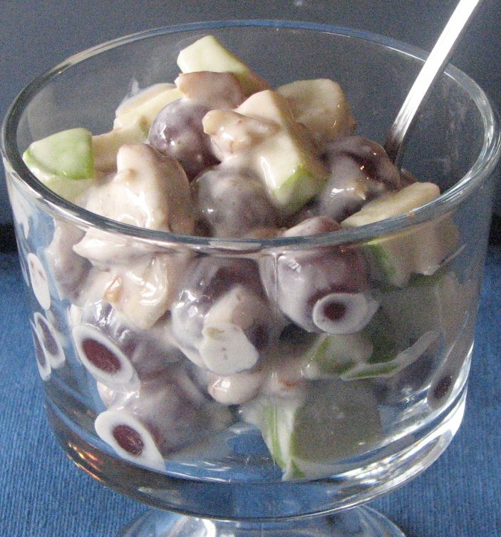 Grape & Apple Salad (Think I'll throw in some pears too!)