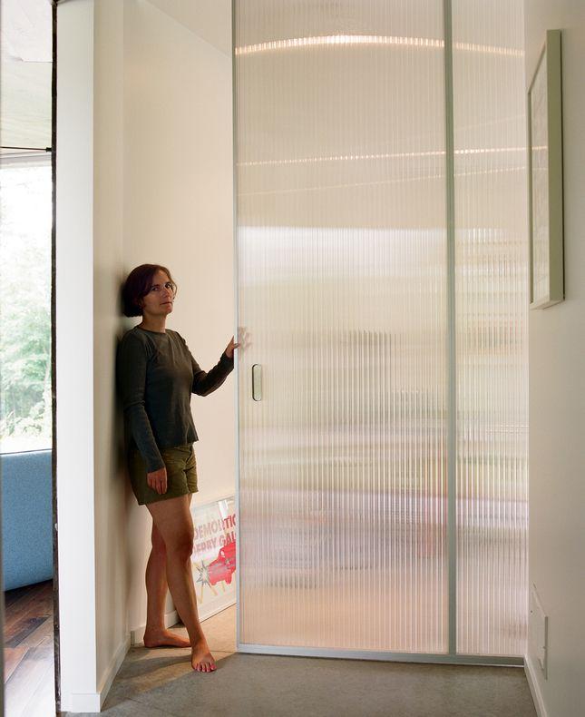 Bedrooms 1&2 - translucent pocket door for bedroom closets