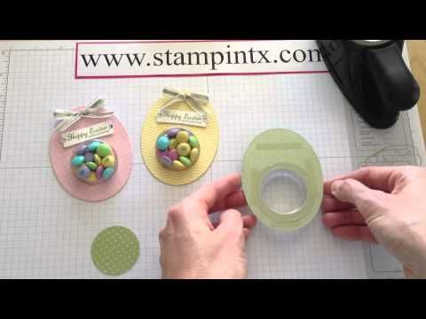 317 best easter cards images on pinterest cardmaking making adorable easter egg treat holders great easter gift youtube negle Choice Image