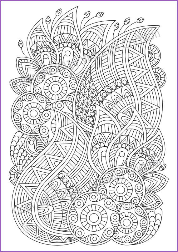 Zentangle Art Coloring Pages For Adults Pdf Zentangle Pattern Etsy Zentangle Patterns Geometric Coloring Pages Pattern Coloring Pages
