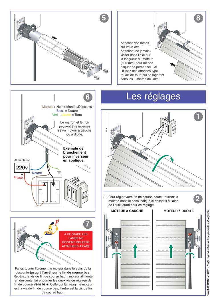 Page 2 Cette Notice Vous Explique Comment Poser Et Regler Votre Axe Motorise Filaire Gefradis Vous Meme Volet Roulant Volet Electrique Volet Roulant Pvc