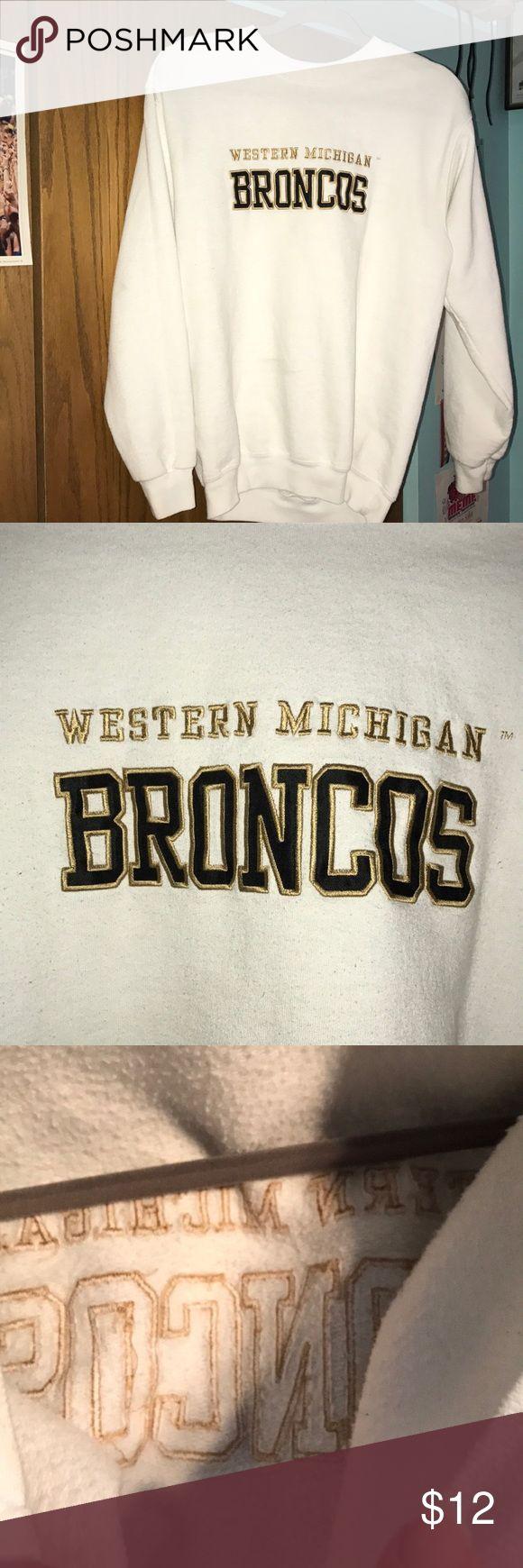 Western Michigan University Crewneck Adult small Western Michigan University crewneck. I'm great condition, clean white color. Tops Sweatshirts & Hoodies