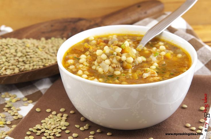 Minestra di lenticchie e fregola - My Cooking Idea http://www.mycookingidea.com/2016/01/minestra-lenticchie-fregola/