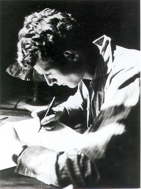 """Paul Valery speaks of the 'une ligne donnee' of a poem. One line is given to the poet by God or by nature, the rest he has to discover for himself."" ― Stephen Spender, Faber and Faber publicity photo"