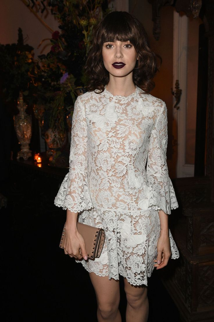 Lily Collins - Valentino party - October 2 2016