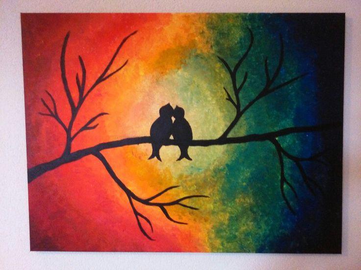 Schilderij met vogeltjes :)