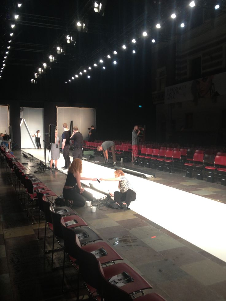 Preparing the catwalk for the show! Anne Sofie Madsen SS14