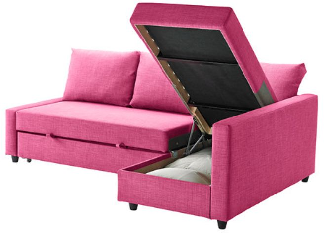Teen+Lounge+Sectional+Furniture | And the sofa easily converts into a bed. In this fun pink color, it ...
