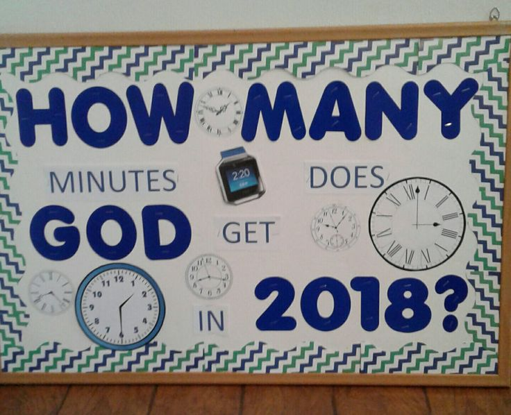 How many minutes does God get in 2018? #BulletinBoard
