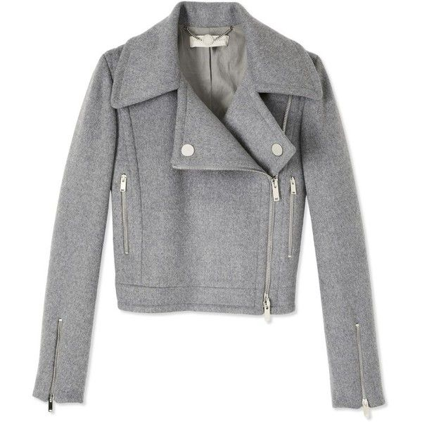 Stella McCartney Double Zipper Jacket ($1,935) ❤ liked on Polyvore featuring outerwear, jackets, coats, coats & jackets, tops, double zipper jacket, rider jacket, grey jacket, stella mccartney and gray jacket
