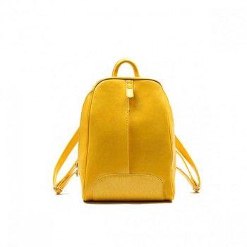 Bastien de Brisay Skórzany plecak żółty
