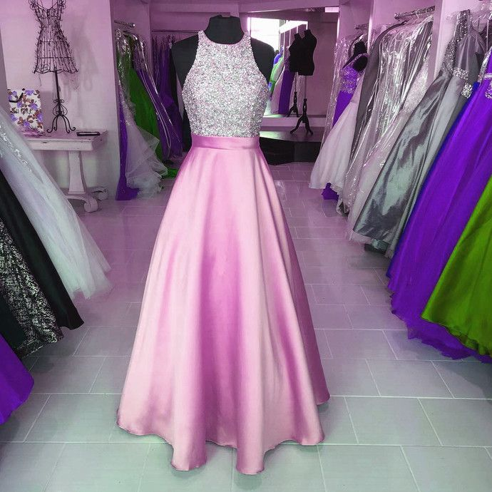 New Arrival Long Prom Dress,Halter Backless Evening Dress,Crystal and Beaded Prom Dresses,Formal Dress by fancygirldress, $159.00 USD