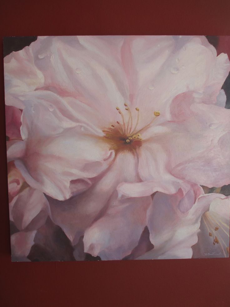 Flower, Benjamin Contador oil on wood