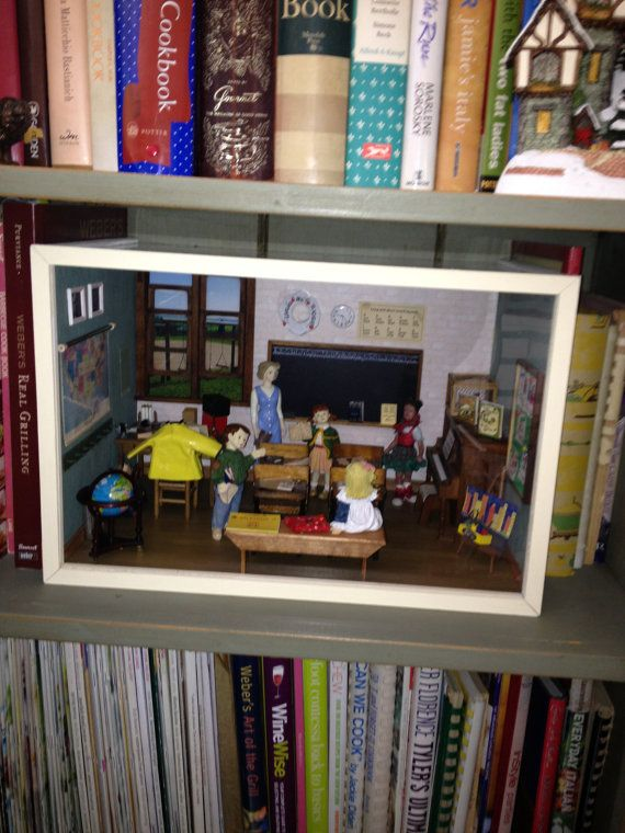 Miniature Children S Bedroom Room Box Diorama: CLASSROOM Elementry A Diorama Room Box