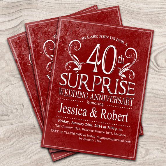 14 best 40th Wedding Anniversary images on Pinterest Anniversary