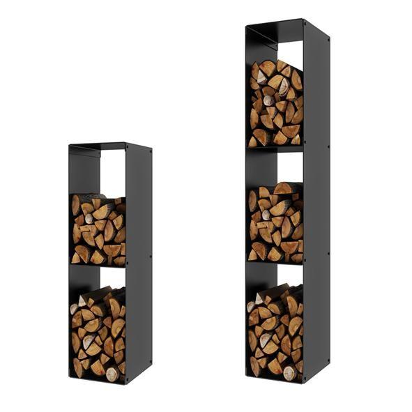 Narrow wood rack