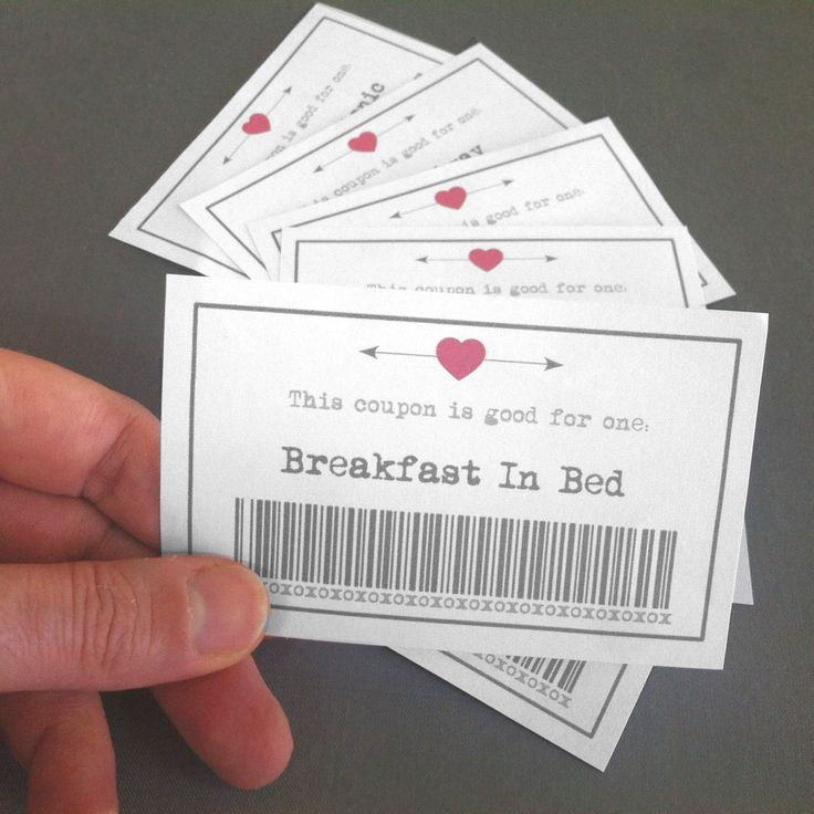 Homemade valentines day coupons for him