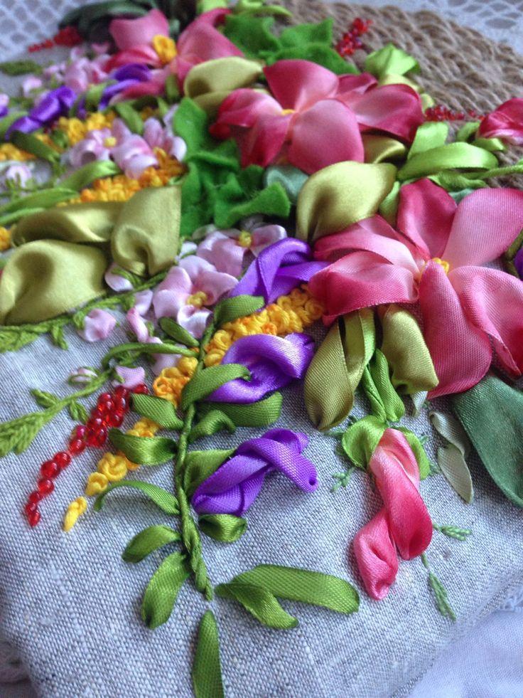 Купить Сумка женская 'корзинка цветов' - женская сумка, сумка через плечо, букет цветов
