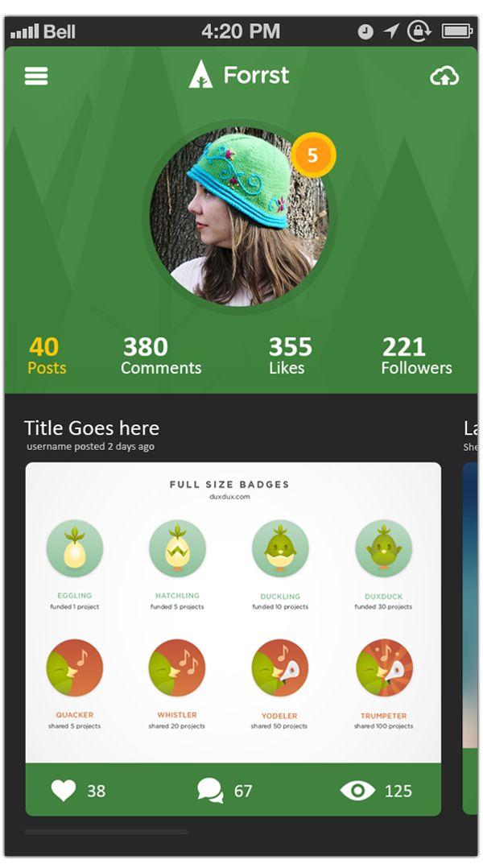 Forrst Mobile App UI design..! #UX